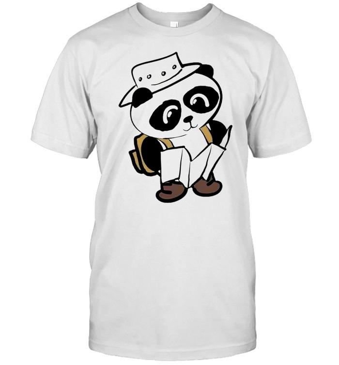 Panda chibi camping shirt