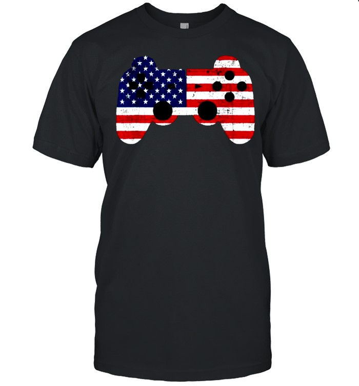 Video Game 4th Of July Gaming Gamer T-Shirt