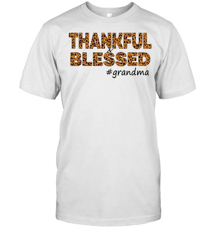 thankful blessed grandma shirt