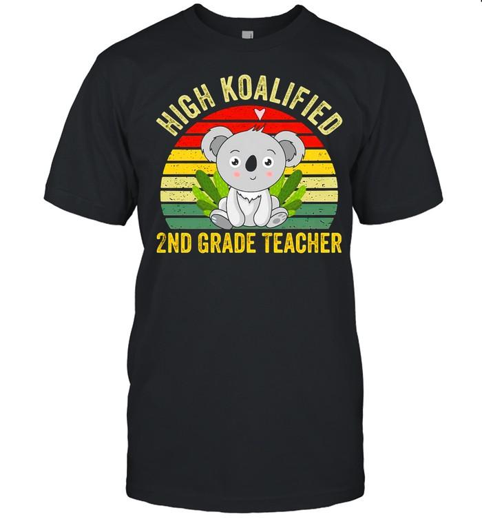 High Koalified 2nd Grade Teacher Vintage T-shirt