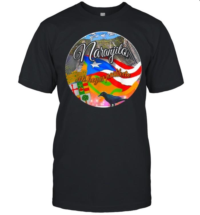 Naranjito Mi Hogar Predilecto raven flags T-Shirt