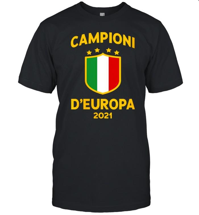 Italy Football Champions of Europe 2021 D'Europa Shirt
