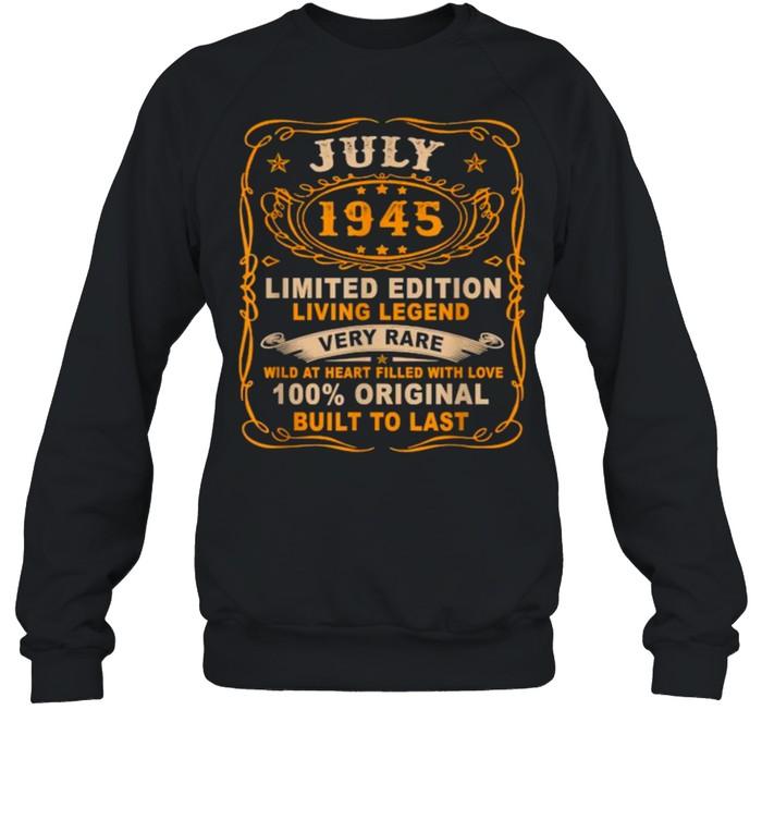 July 1945 Limited Edition Living Legend Very Rare Vintage T- Unisex Sweatshirt
