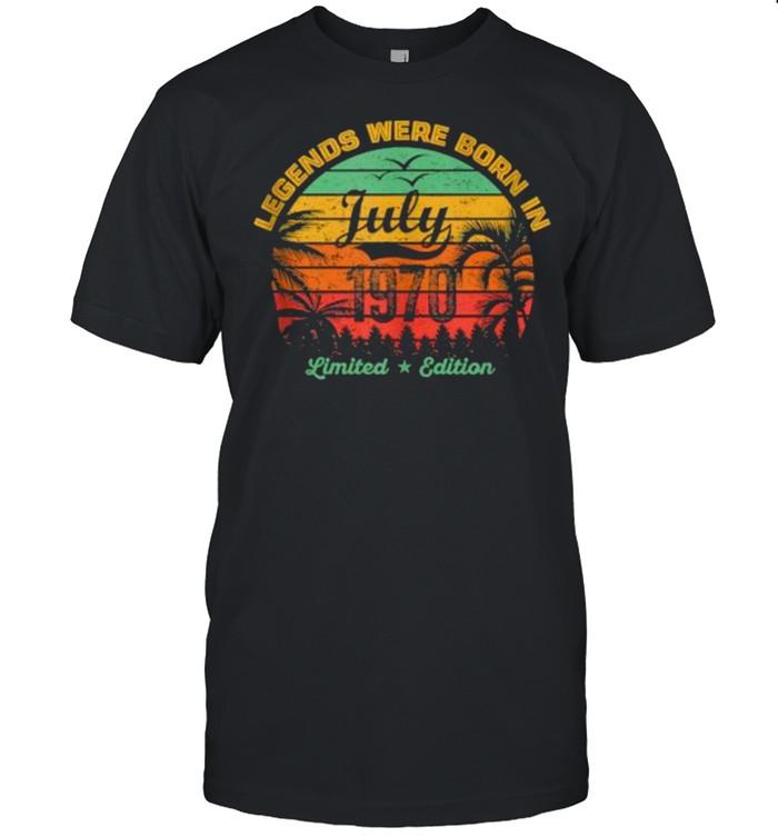Legends Were Born in July 1970 51th Birthday Vintage T-Shirt