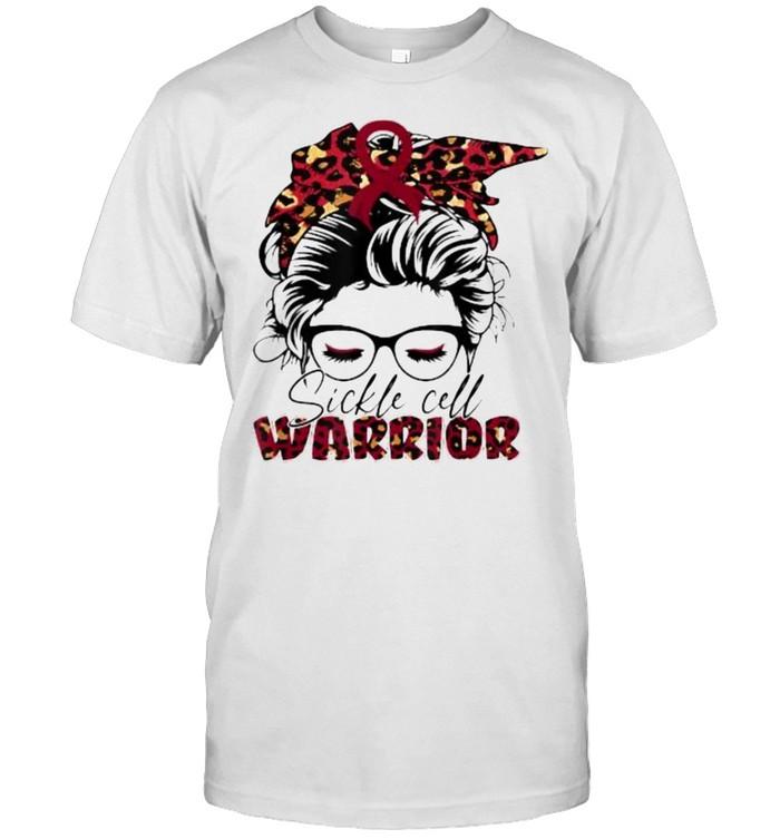 Sickle cell burgundy bandana warrior T-Shirt
