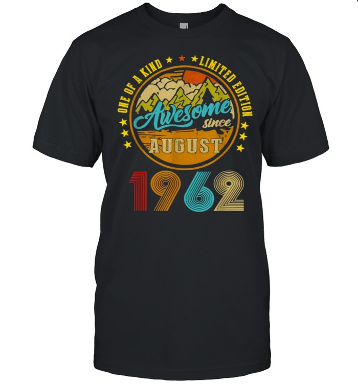 One Of A Kind Limited Edition Awesome Since August 19632 Vintage T-Shirt