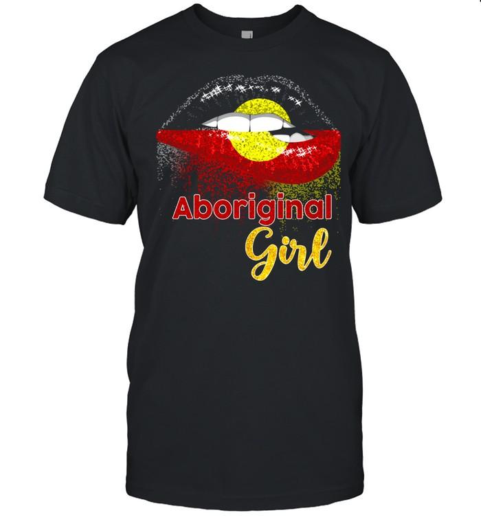 Lips Aboriginal girl shirt