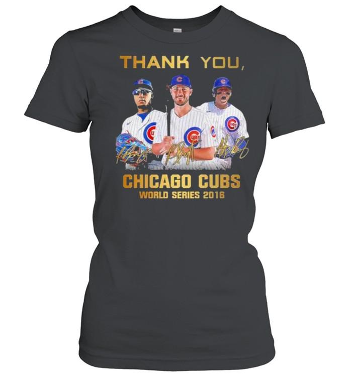 Thank you chicago cubs world series 2016 signature shirt Classic Women's T-shirt