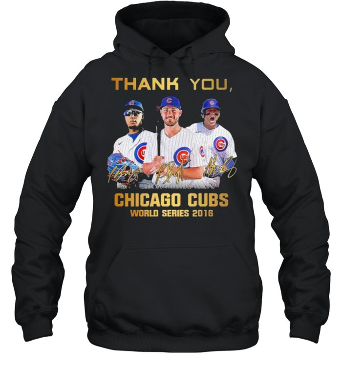 Thank you chicago cubs world series 2016 signature shirt Unisex Hoodie