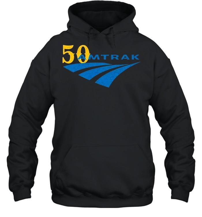 For 50 years Amtrak logo shirt Unisex Hoodie