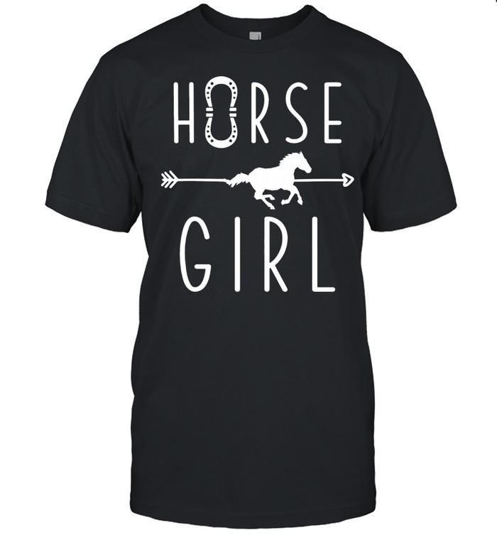 Horse Girl Pony Equestrian Sports Rider School Riding Horses shirt