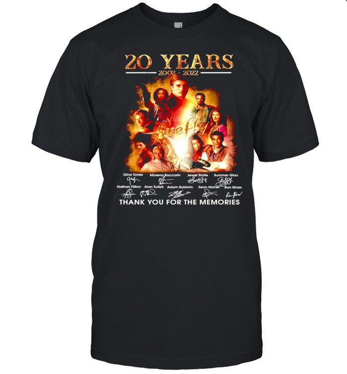 20 years Firefly 2002 2022 thank you for the memories shirt