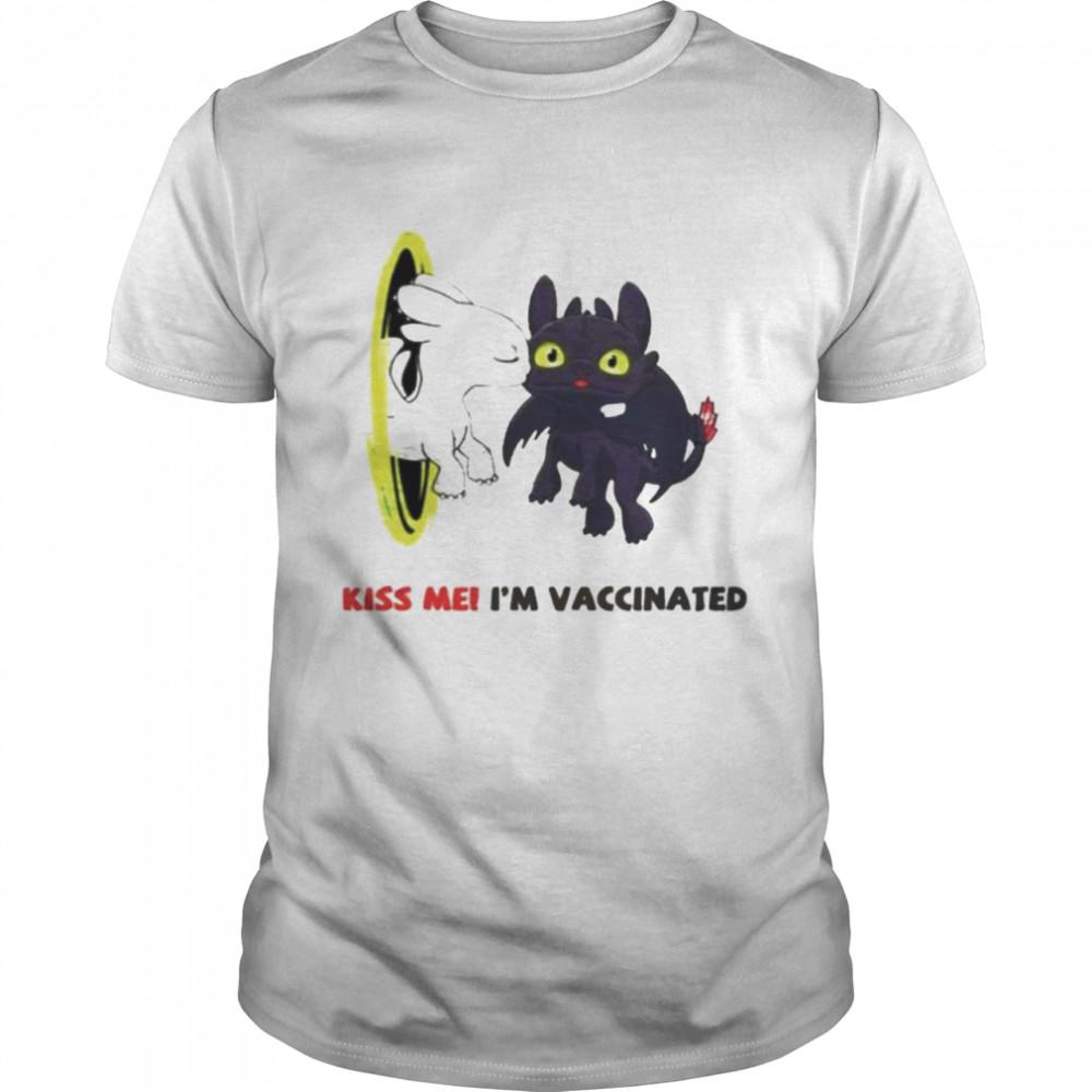 Dragon Kiss me I'm vaccinated shirt