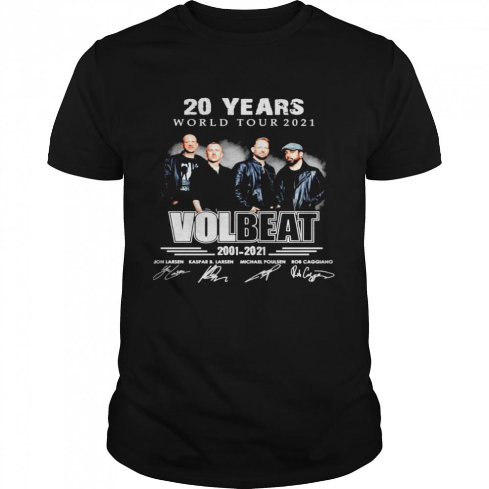 20 years World tour 2021 Volbeat 2001-2021 signatures shirt