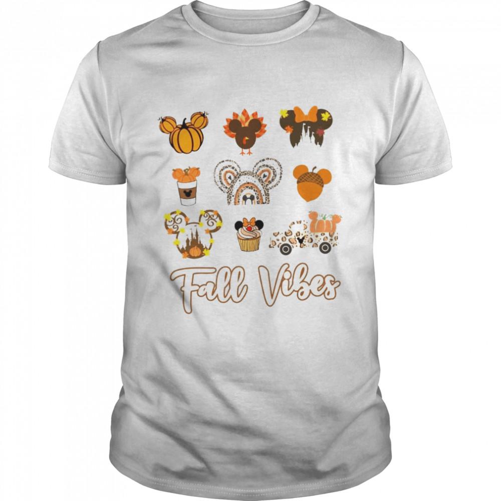 Mickey Mouse Fall vibes pumpkin shirt
