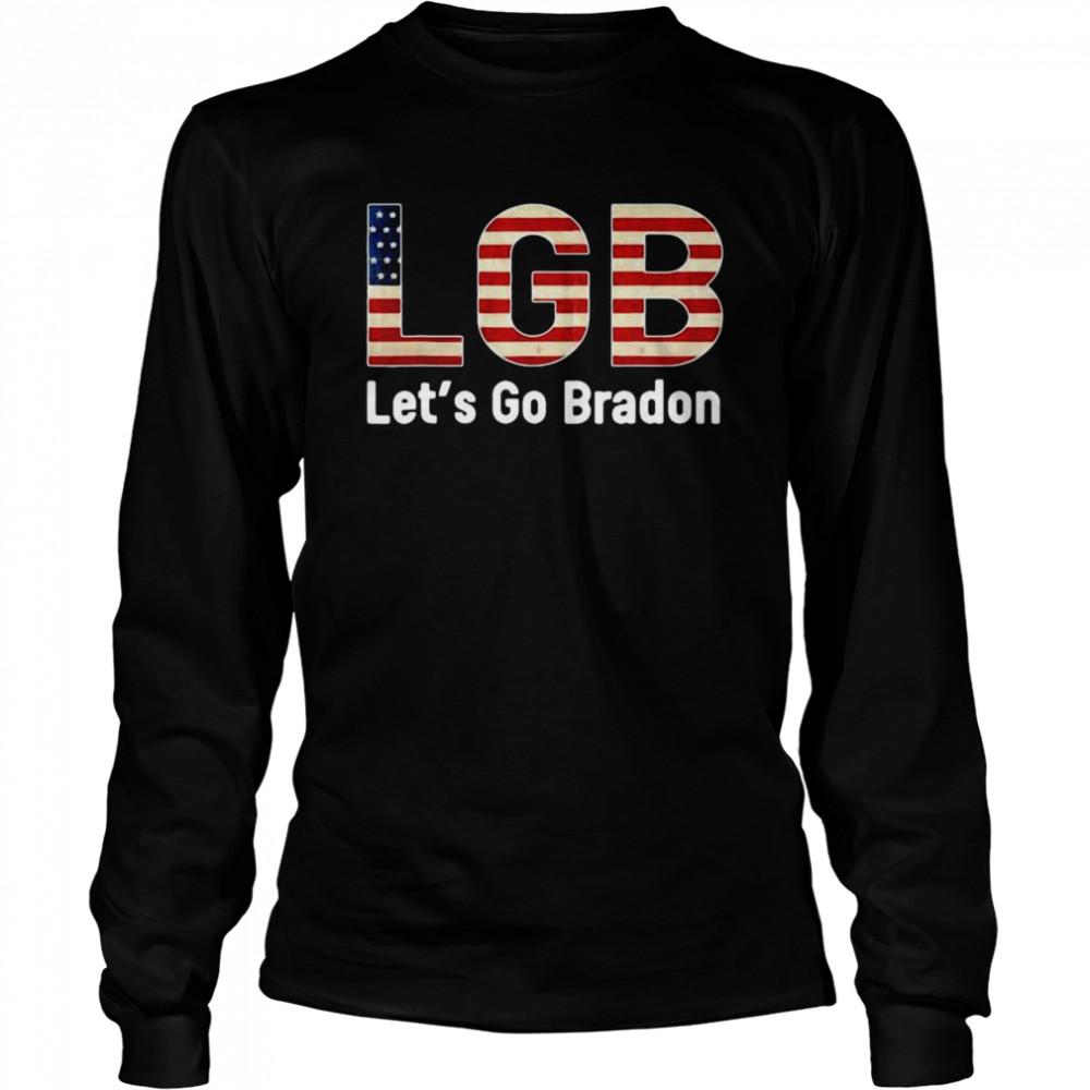 American Flag LGB Let's Go Brandon Anti Biden Long Sleeved T-shirt