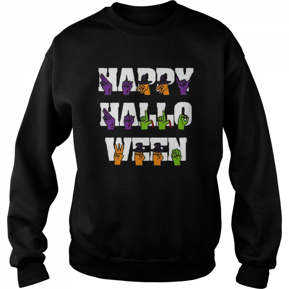 American Sign Language Pride Asl Halloween Unisex Sweatshirt