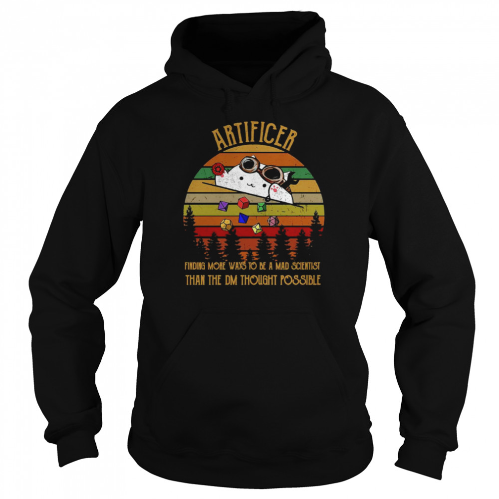 Artificer Finding More Ways To Be A Mad Scientist Than The DM Thought Possible Vintage Unisex Hoodie