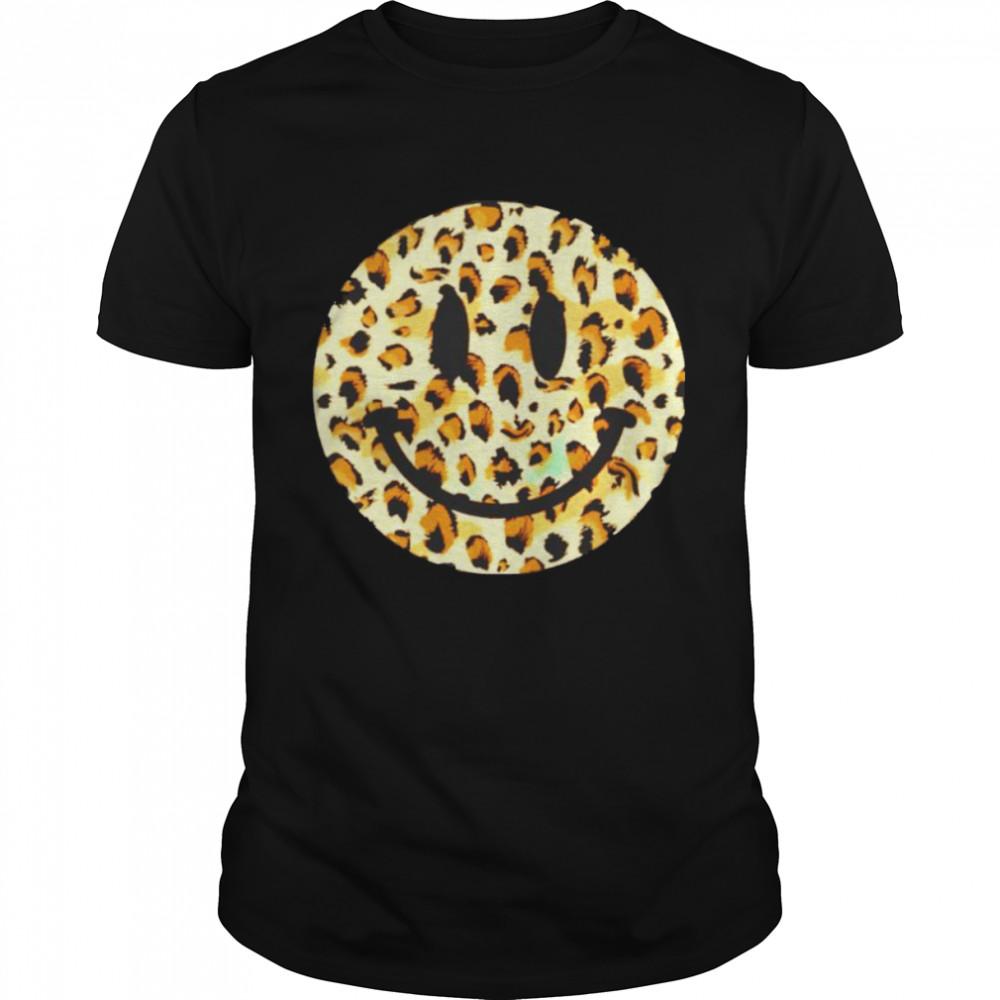 leopard happy face shirt