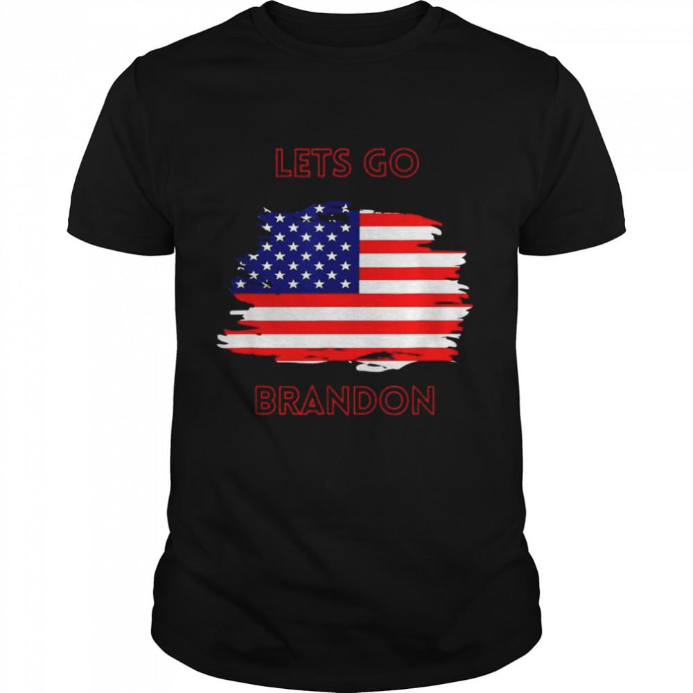 Let's Go Brandon Usa Flag Anti Biden Tee shirt
