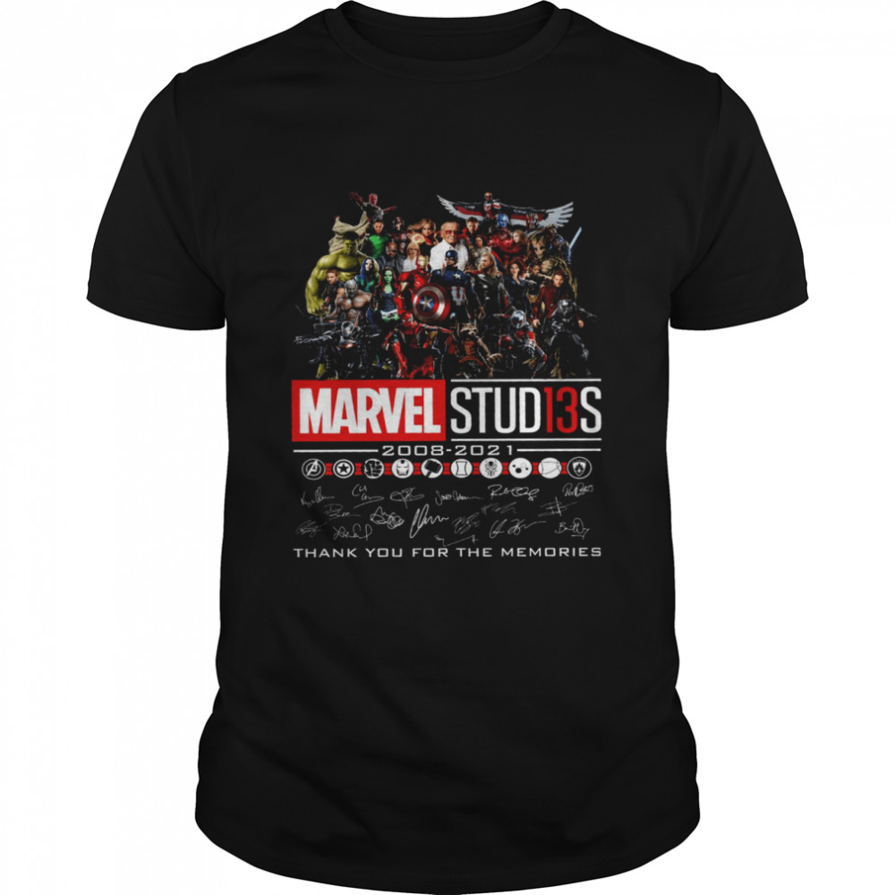 Marvel studios 2008 2021 thank you for the memories shirt