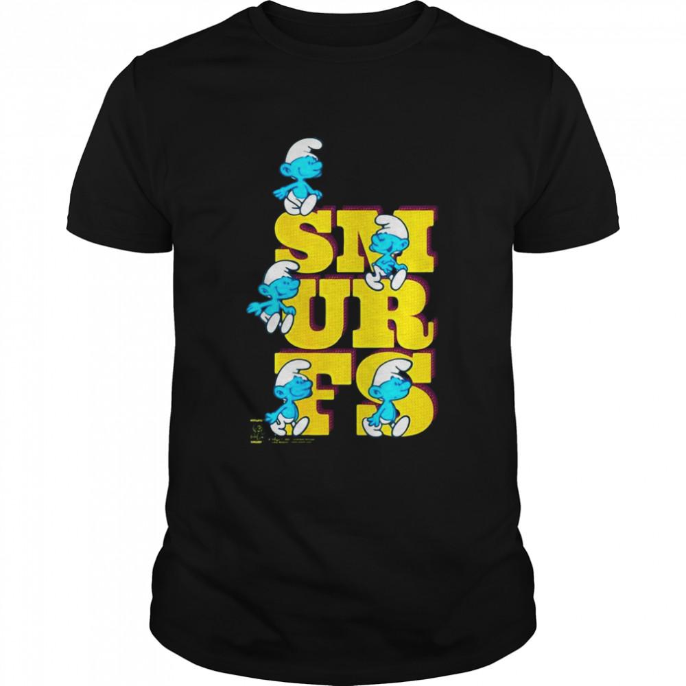 The Smurfs Original Smurfs Big Letters Shirt
